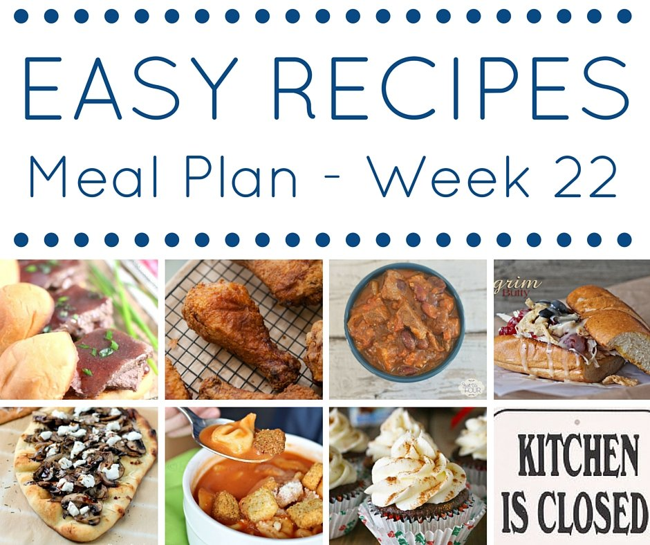 Easy Dinner Recipes Meal Plan - 7 awesome recipes for your weekly meal plan!