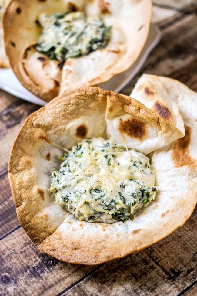 Single Serving Spinach & Artichoke Dip - the perfect party appetizer!