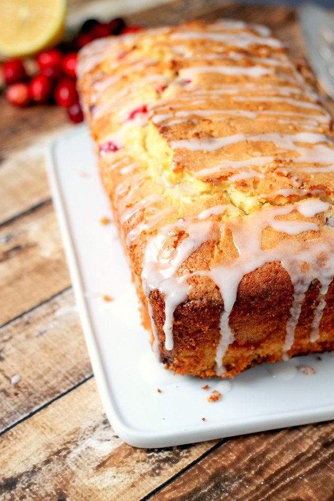 Cranberry Lemon Loaf is perfect for breakfast, brunch, dessert, or a snack! This is the perfect entertaining quick bread!