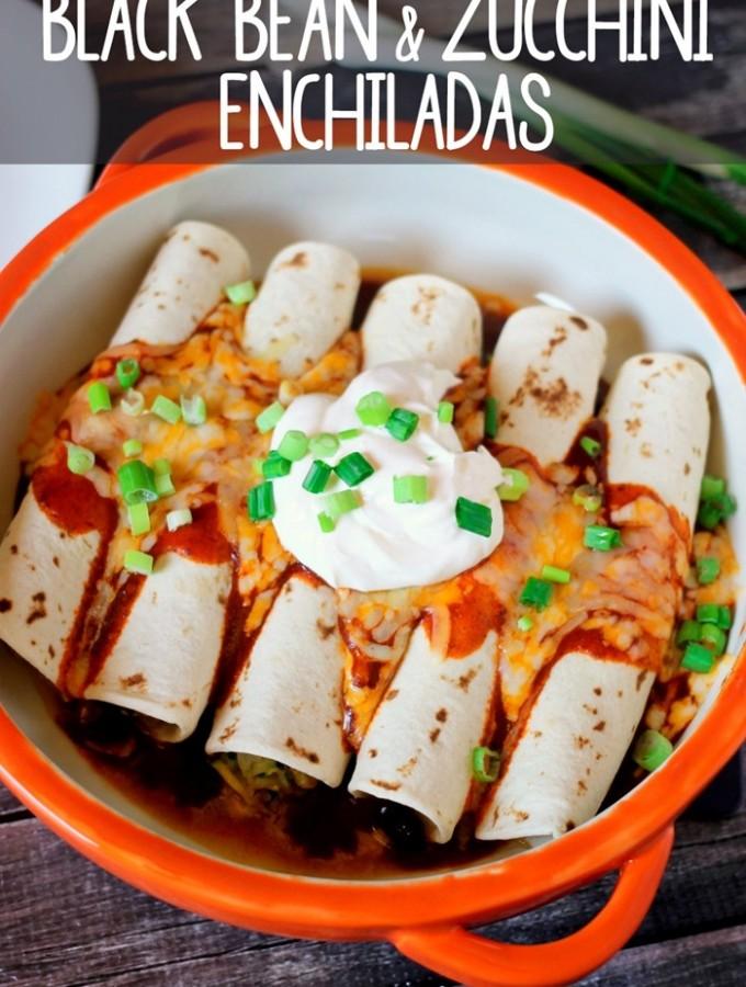 Black Bean Zucchini Enchiladas