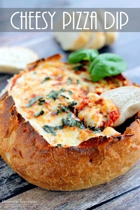 Cheesy Pizza Dip Bread Bowl (1)