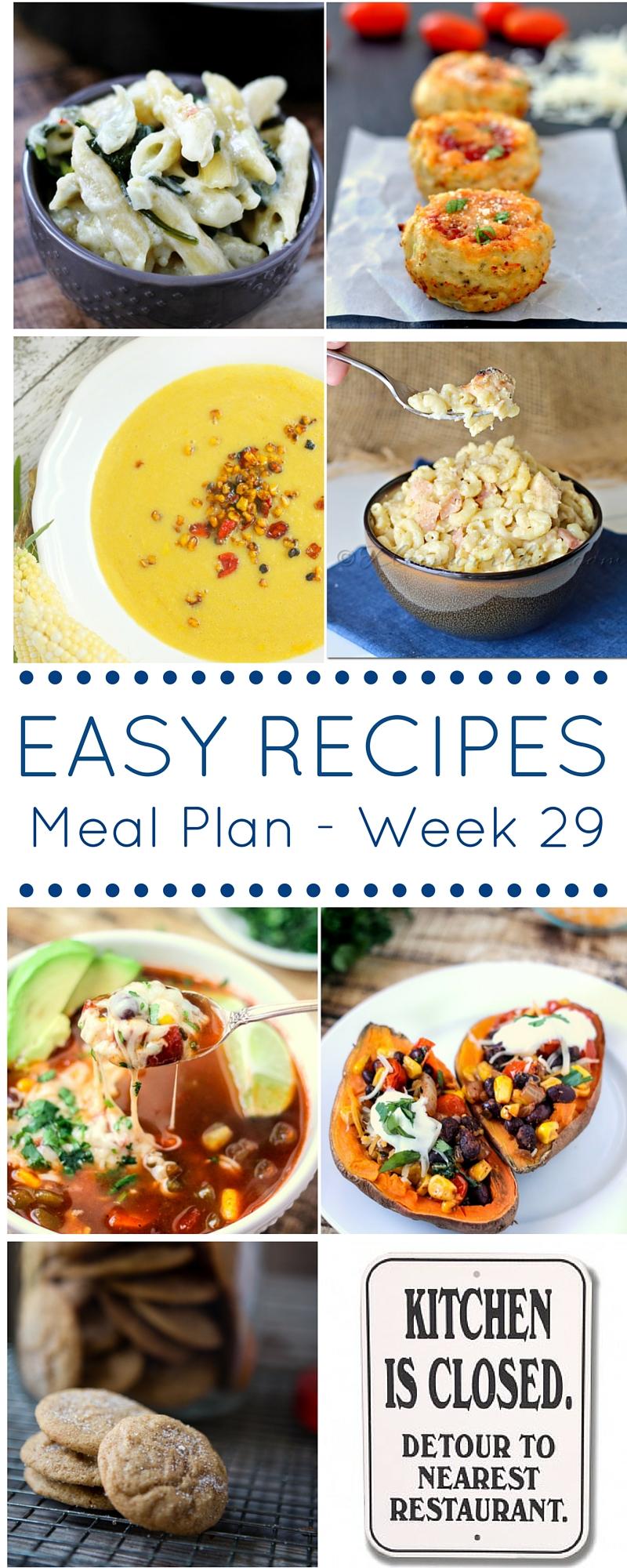 Meal Plan Week 29 Pinterest