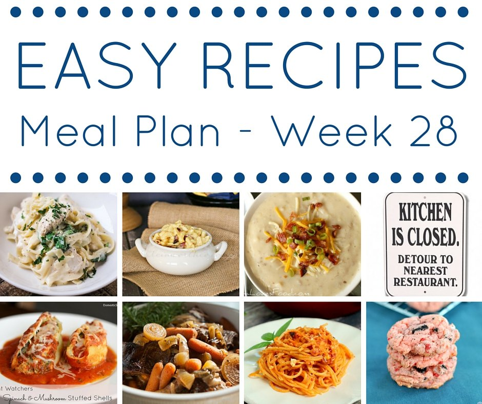 Easy dinner recipes meal plan week 28 domestic superhero meal plan week 28 square forumfinder Image collections