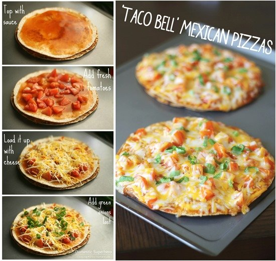 Taco Bell Mexican Pizza FB collage