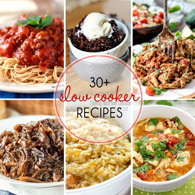 31+ Easy Slow Cooker Recipes to make your life easier! From soup, to dessert, to drinks, this list has everything!