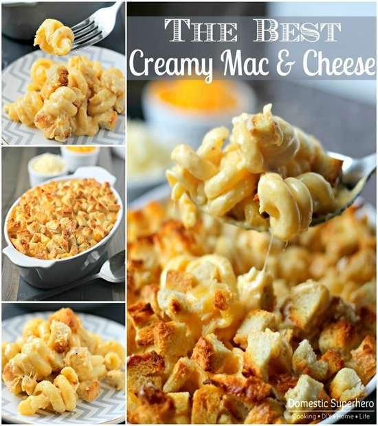 The BEST EVER Creamy Mac & Cheese Collage