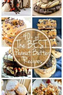 The BEST Peanut Butter Desserts {40+ Recipes}  collage