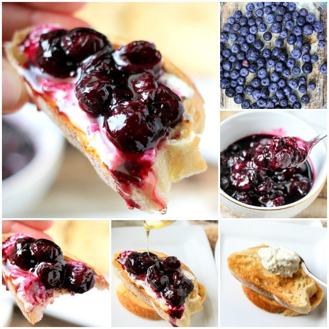 Roasted Blueberry & Herb Crostini
