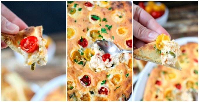 Spicy Pepper & Tomato Cheese Dip - The perfect 20 minute party dip!