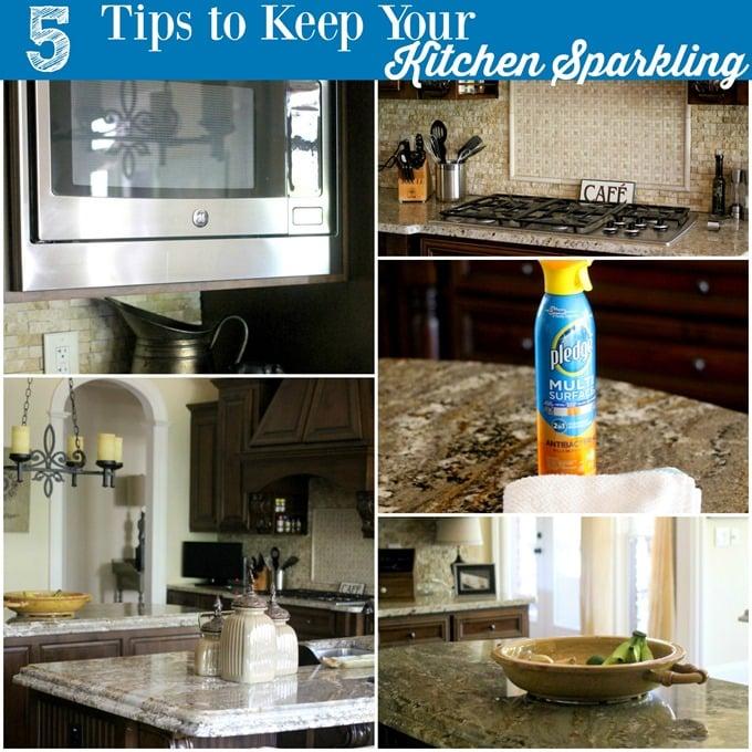 Sparkling Kitchen: 5 Tips To Keep The Kitchen Sparkling • Domestic Superhero