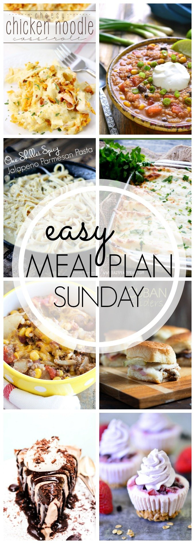 EASY MEAL PLAN - great dinner and dessert recipes for the entire week!