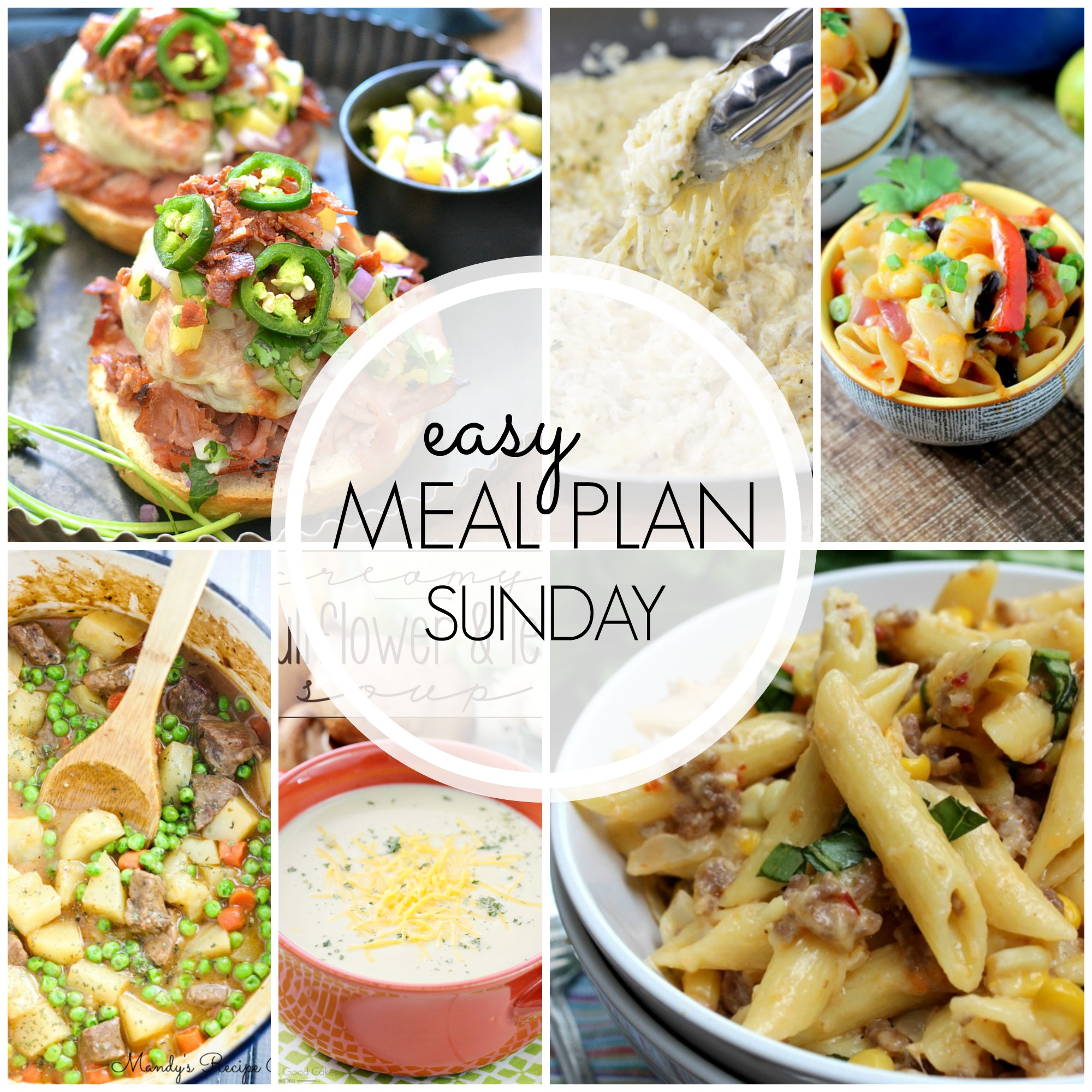 EASY MEAL PLAN – Week 40 - 7 delicious dinners and 2 desserts!