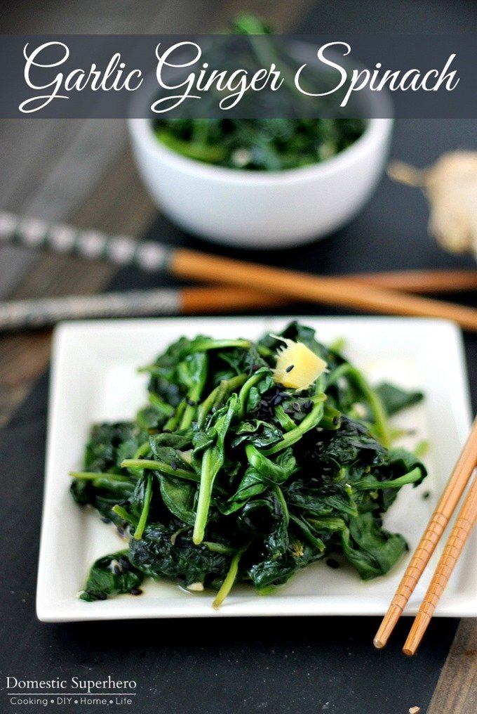 Garlic Ginger Spinach
