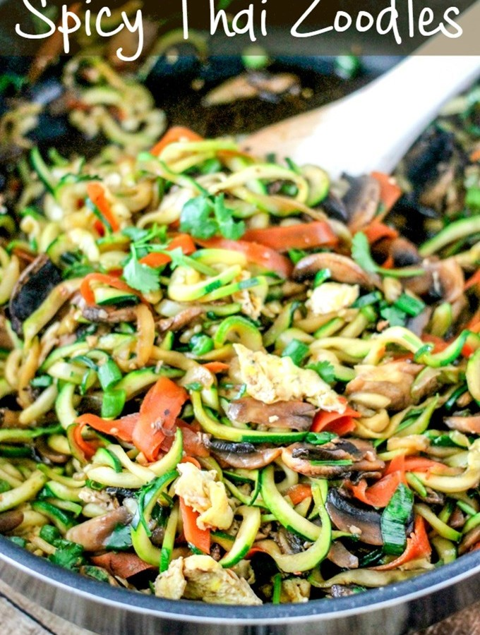 One Pot Spicy Thai Zoodles