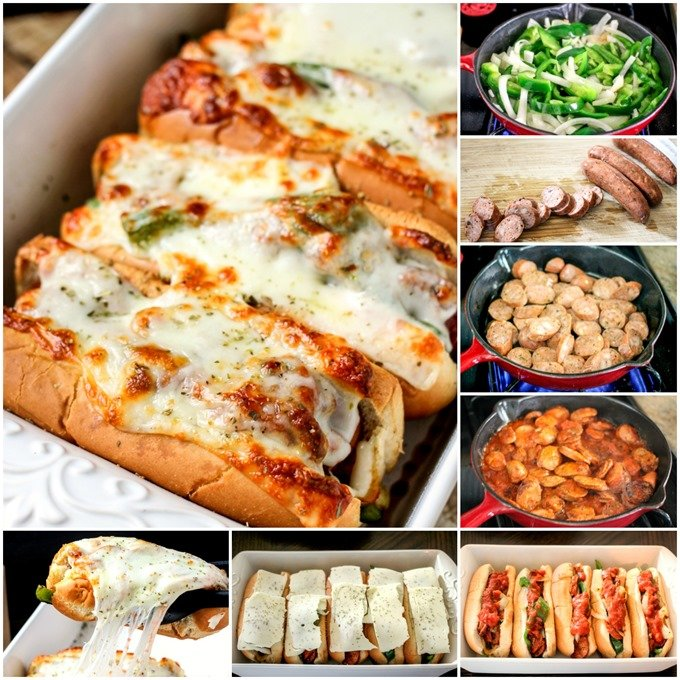 Sausage, Pepper & Onion Pizza Hoagies - an easy and delicious 30 minute meal!