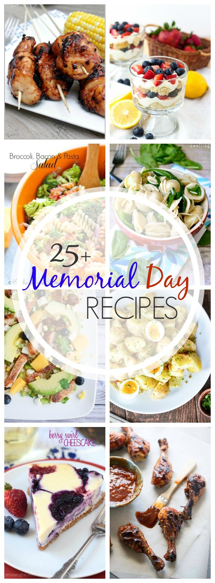 25+ Memorial Day Recipes - over 25 recipes to cook up this summer!