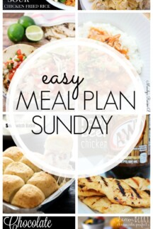 EASY MEAL PLAN – Week 43 - 7 delicious dinners and 2 desserts!
