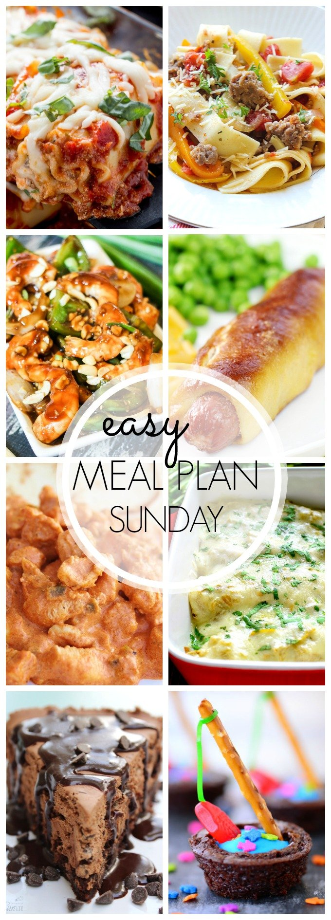 EASY MEAL PLAN – Week 41 - 7 delicious dinners and 2 desserts!