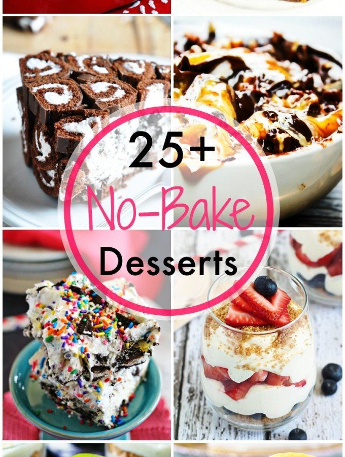 25+ No-Bake Desserts - something for everyone and all majorly delicious!