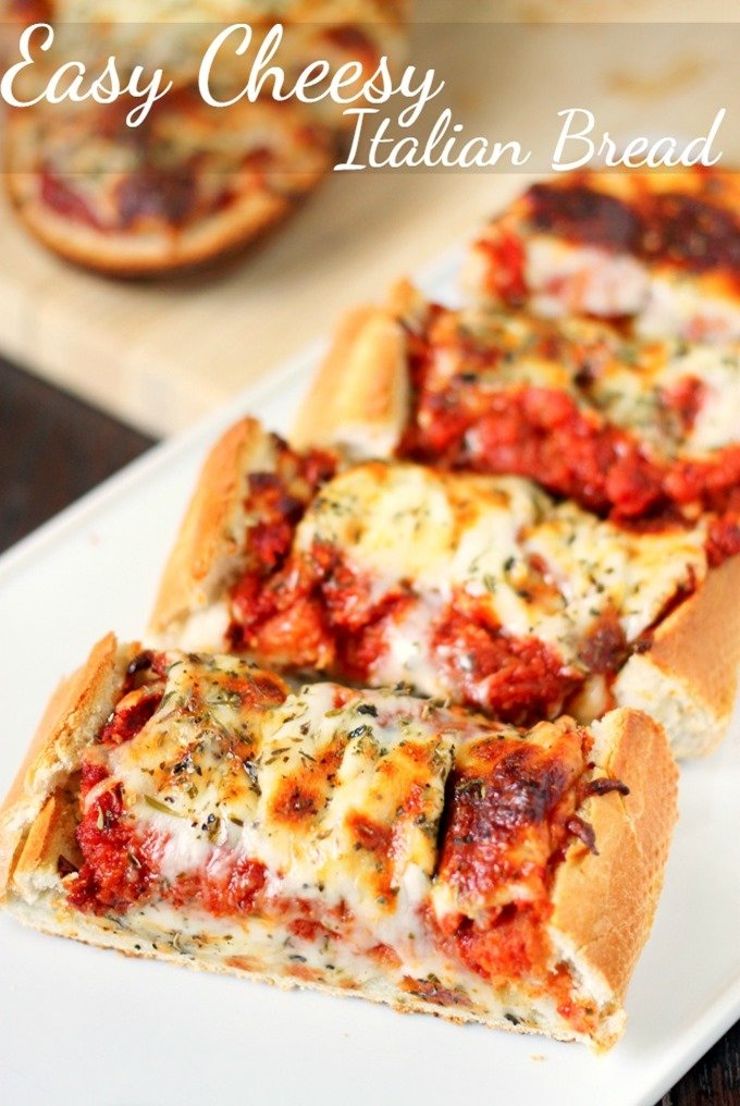 Easy cheesy italian bread domestic superhero easy cheesy italian bread is a simple 15 minutes recipe that the whole family will devour forumfinder Image collections