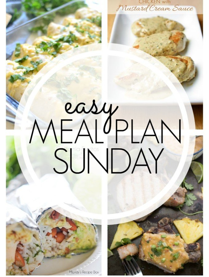 EASY MEAL PLAN – Week 48 - 7 delicious dinners and 2 desserts!