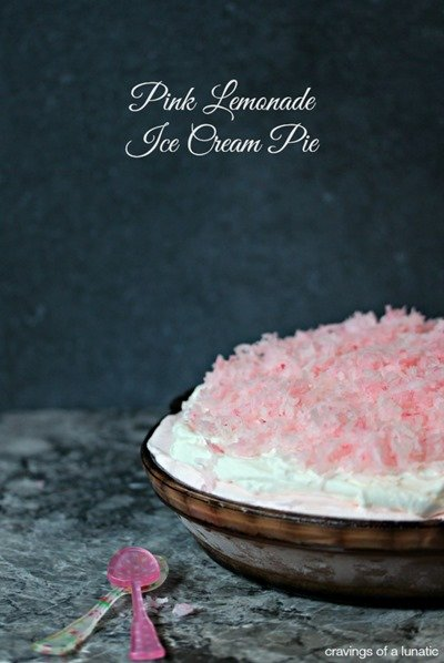 Pink Lemonade Ice Cream Pie by Cravings of a Lunatic