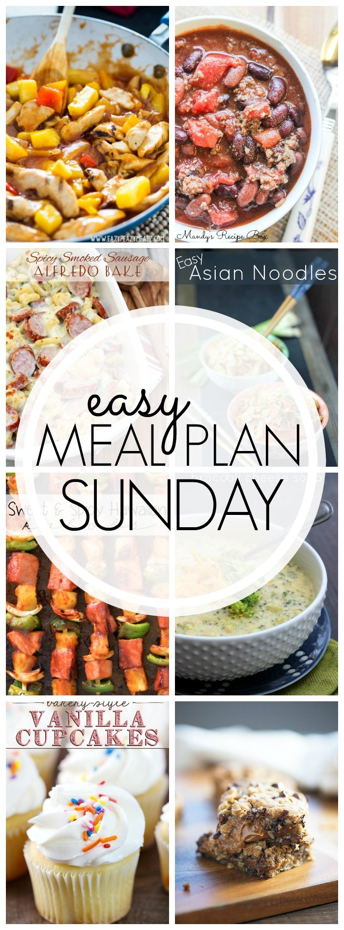 EASY MEAL PLAN – Week 45 - 7 delicious dinners and 2 desserts!