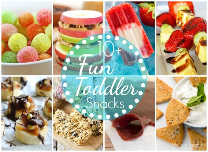 10 Fun Toddler Snacks collage2