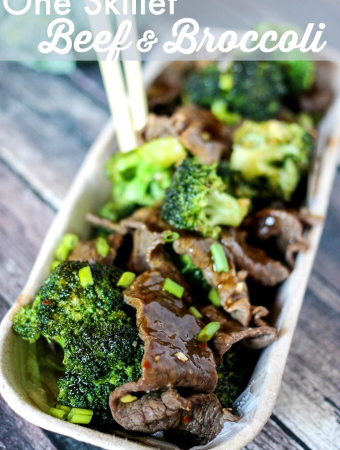 One Skillet 20 Minute Beef & Broccoli
