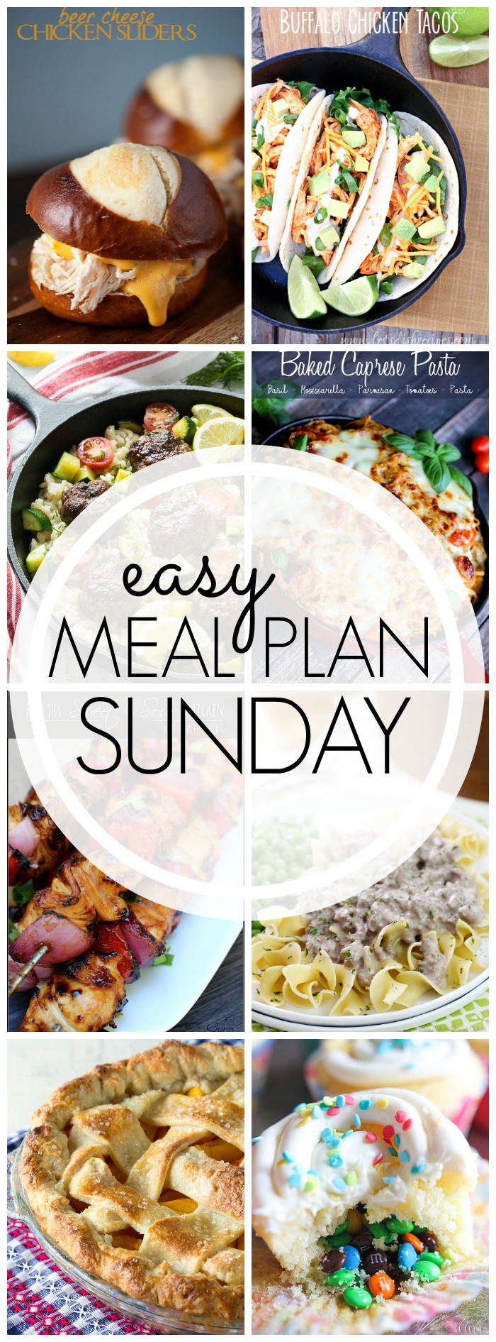 EASY MEAL PLAN – Week 53 - 7 delicious dinners and 2 desserts!