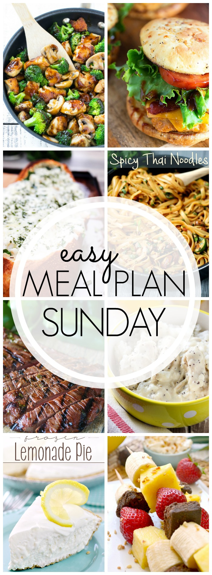 EASY MEAL PLAN – Week 50 - 7 delicious dinners and 2 desserts!
