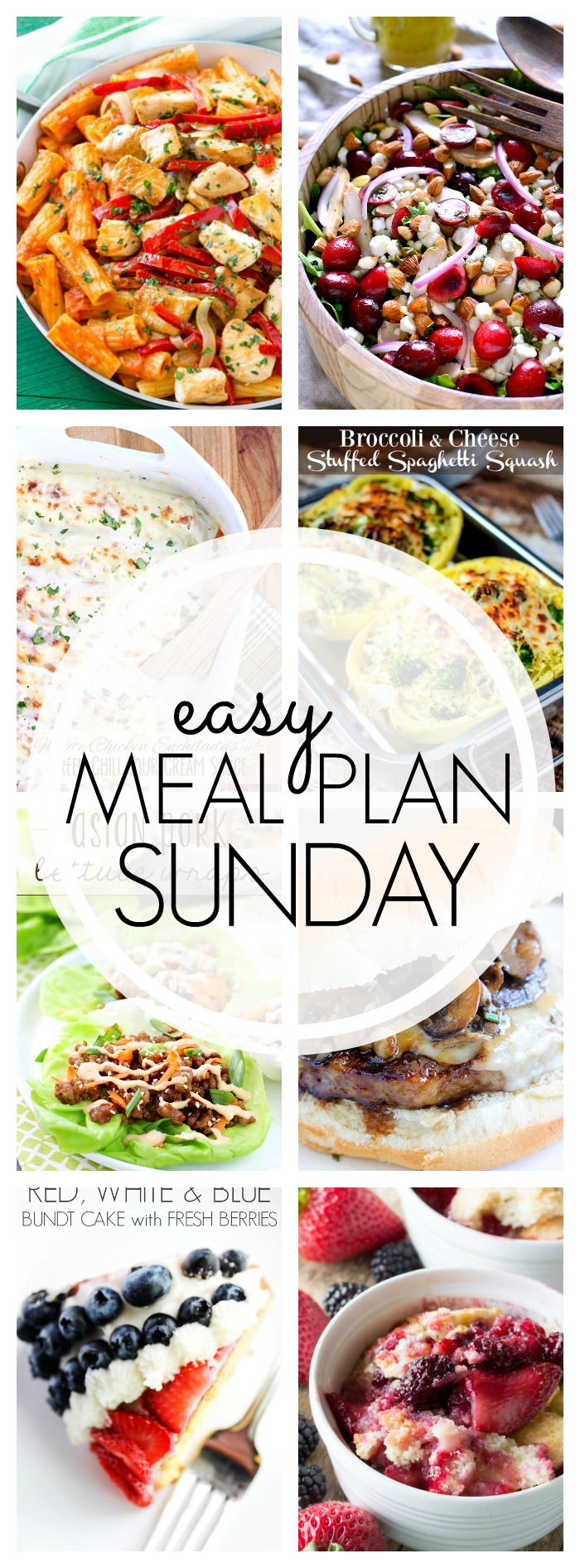 EASY MEAL PLAN – Week 51 - 7 delicious dinners and 2 desserts!