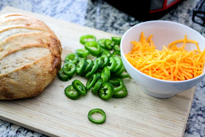 Jalapeno Ranch Pull Apart Bread is the cheesiest, most delicious pull-apart bread with a KICK that you will ever try! Makes the perfect appetizer!