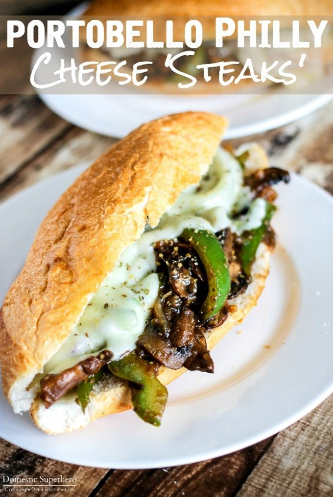 Vegetarian Portobello Philly Cheese Steaks