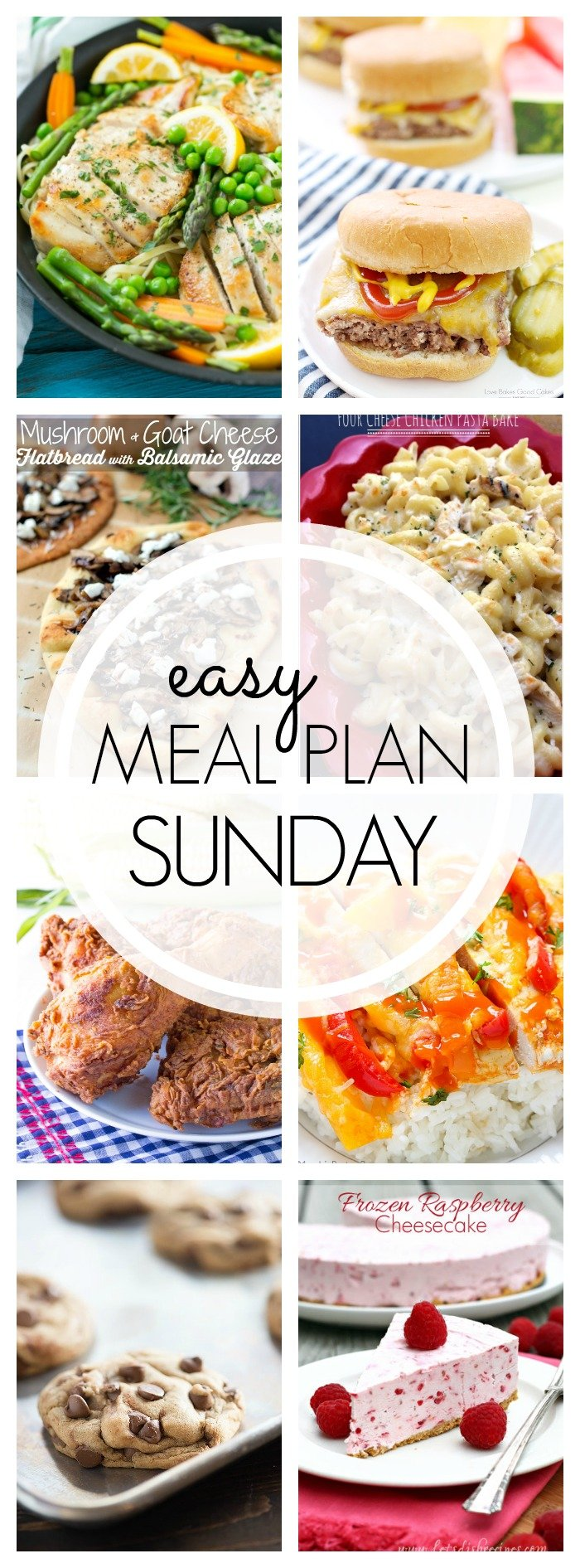 EASY MEAL PLAN – Week 54 - 7 delicious dinners and 2 desserts!
