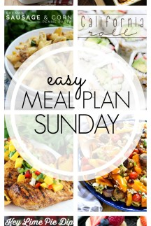 EASY MEAL PLAN – Week 55 - 7 delicious dinners and 2 desserts!