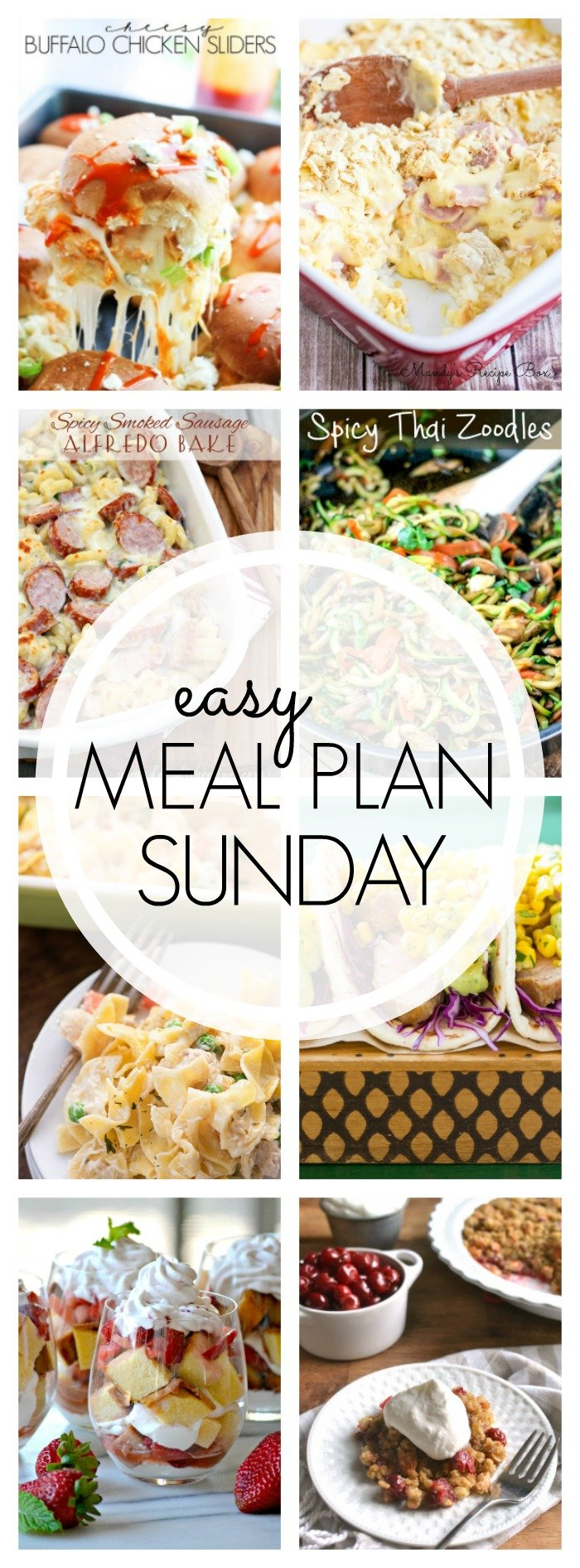 EASY MEAL PLAN – Week 56 - 7 delicious dinners and 2 desserts!