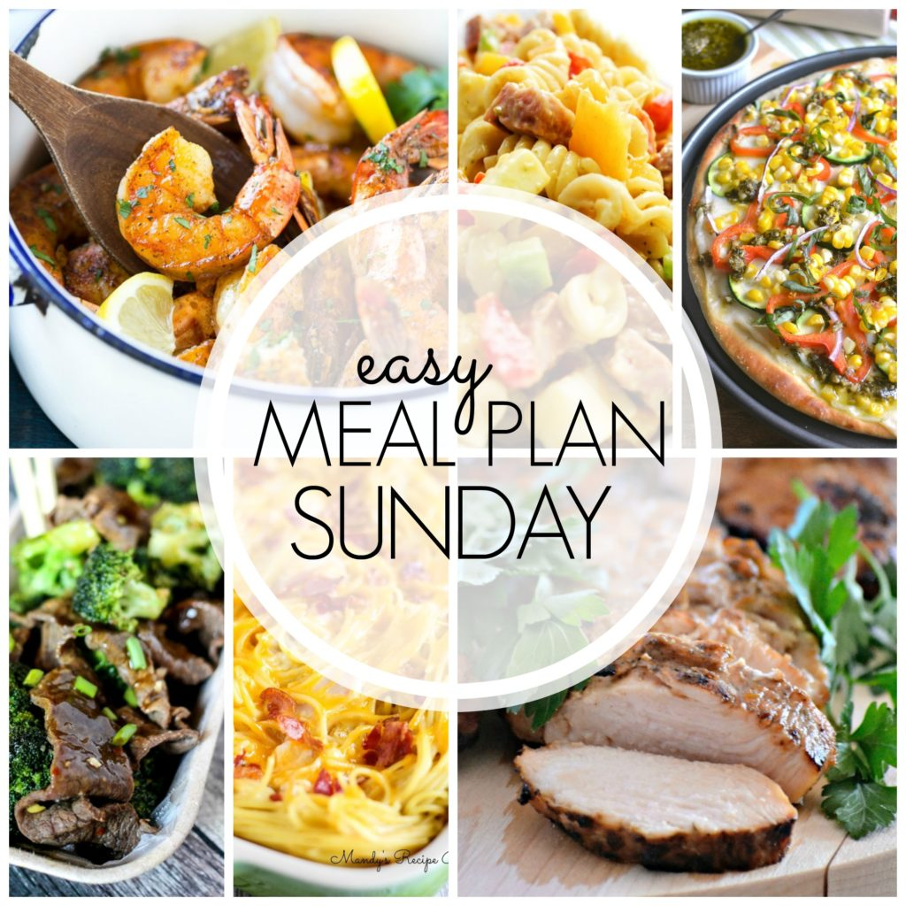 EASY MEAL PLAN – Week 58 - 7 delicious dinners and 2 desserts!