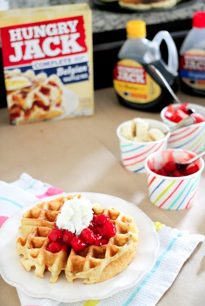 DIY Pancake Waffle Party Bar