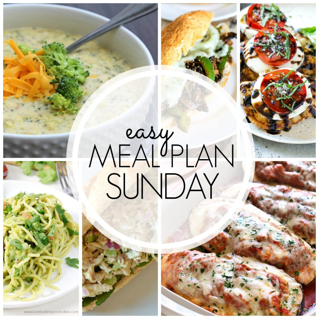 EASY MEAL PLAN – Week 61 - 7 delicious dinners and 2 desserts!