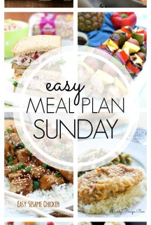 EASY MEAL PLAN – Week 59 - 7 delicious dinners and 2 desserts!