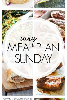 EASY MEAL PLAN – Week 62 - 7 delicious dinners and 2 desserts!