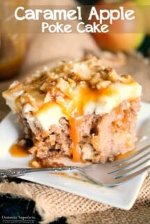 Caramel Apple Poke Cake is the easiest and most delicious fall cake you will ever make!