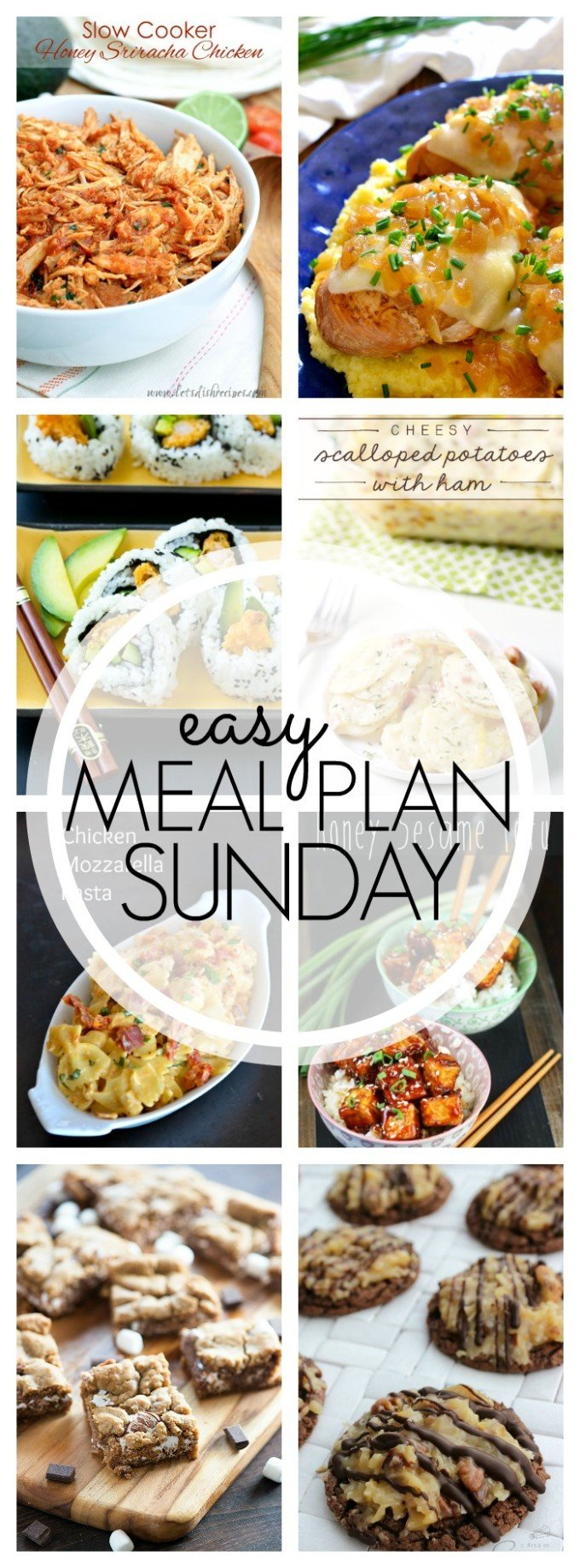 EASY MEAL PLAN – Week 63 - 7 delicious dinners and 2 desserts!