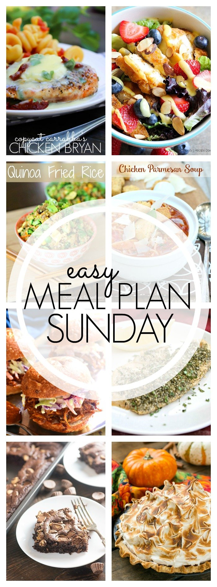 EASY MEAL PLAN – Week 64 - 7 delicious dinners and 2 desserts!