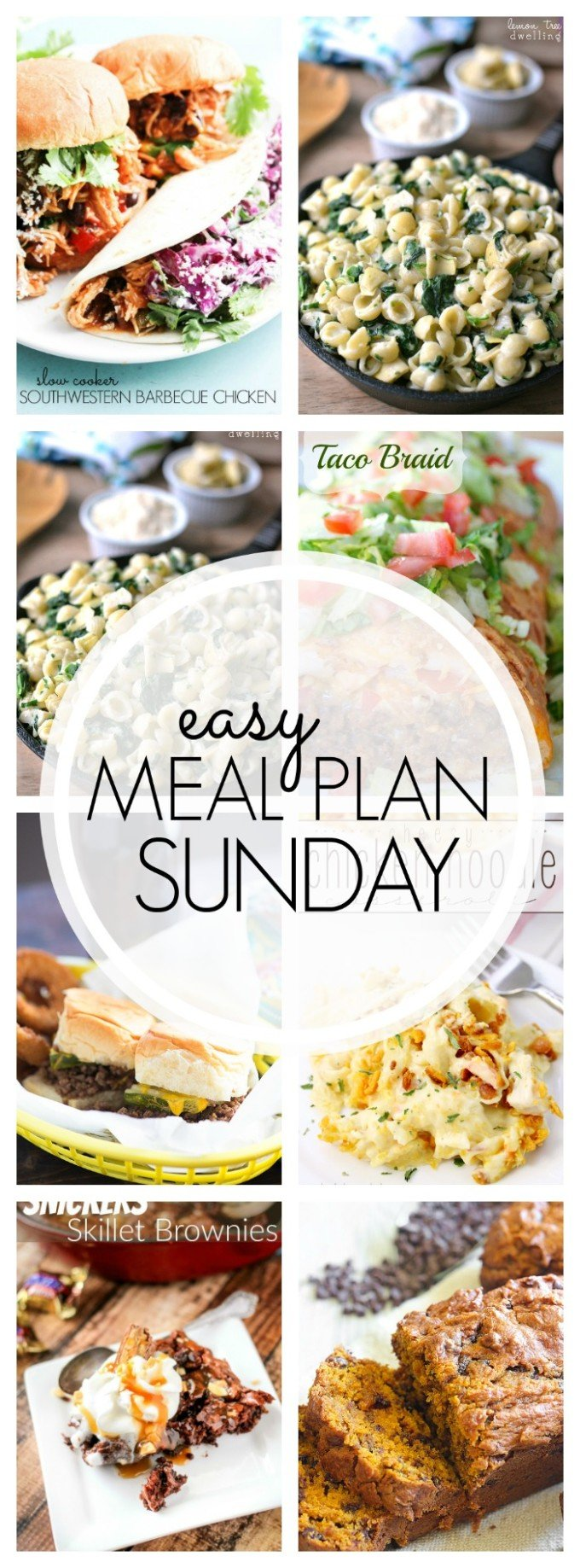 EASY MEAL PLAN – Week 65 - 7 delicious dinners and 2 desserts!