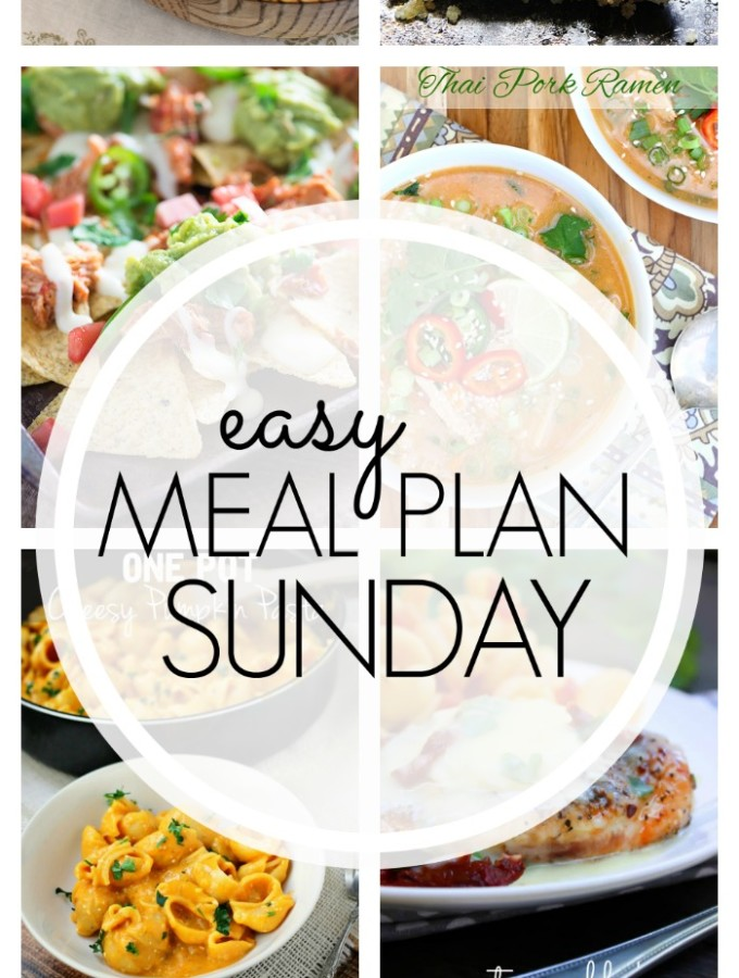 EASY MEAL PLAN – Week 66 - 7 delicious dinners and 2 desserts!
