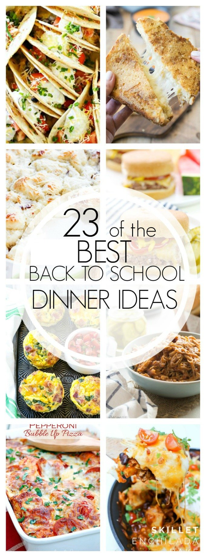 With fall right around the corner, having easy meals for school nights is essential! Here are the best back to school dinner ideas!