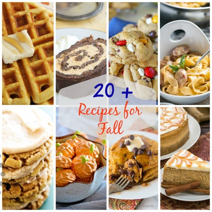 The BEST FALL Recipes - Over 20 of the most delicious breakfast, lunch, dinner, and dessert recipes for fall!