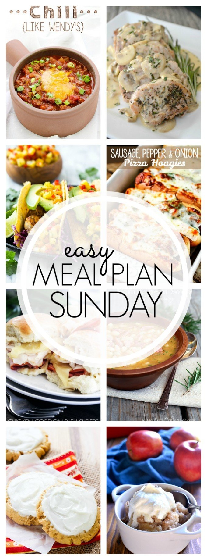 EASY MEAL PLAN – Week 68 - 7 delicious dinners and 2 desserts!